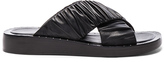 3.1 Phillip Lim Leather Nagano Slides in Black.