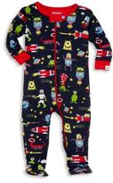 Hatley Baby's Alien Printed Organic Cotton Footie