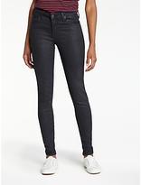 Lee Scarlett High Waist Skinny Coated Jeans, Coated Black