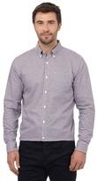 J By Jasper Conran Big And Tall Dark Purple Gingham Checked Print Regular Fit Shirt