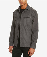 Kenneth Cole Reaction Men's Faux-Suede Shirt Jacket