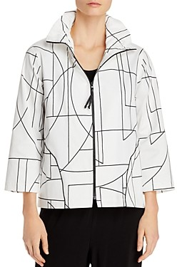 Caroline Rose Graphic Zip Jacket