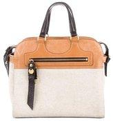 Mayle Bicolor Leather-Trimmed Satchel