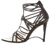 Donna Karan Leather Multi-Strap Sandals