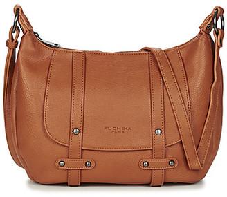 Fuchsia F9927 women's Shoulder Bag in Beige