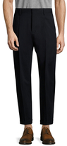Vince Worsted Wool Long Rise Cuffed Trousers