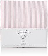 PetitPehr Pencil-Striped Cotton Crib Sheet