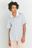 Soulland Cornwall Blue Stripe Printed Shirt