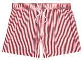 River Island Mens Red stripe print slim fit swim shorts