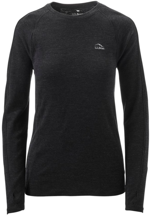 L.L. Bean L.L.Bean Women's Cresta Wool Midweight 250 Base Layer, Crew
