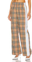 Burberry High Waisted Wide Leg Pant in Archive Beige Check | FWRD