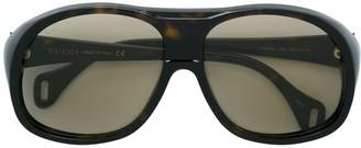 Gucci Oversized Aviator-Sized Glasses