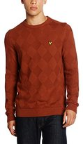Lyle & Scott Men's Crew Neck Textured Argyle Jumper