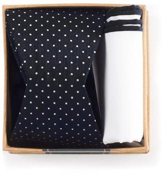Tie Bar Black Bow Tie Box Gift Set