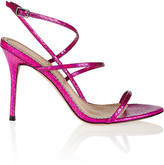 Jean-Michel Cazabat Jean Michel Cazabat Omayra holographic snake-effect leather sandals
