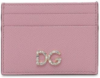 Dolce & Gabbana Dauphine Leather Card Holder W/ Logo