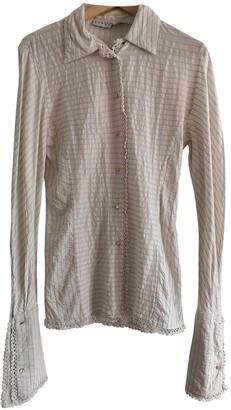 Martine Sitbon Ecru Cotton Top for Women