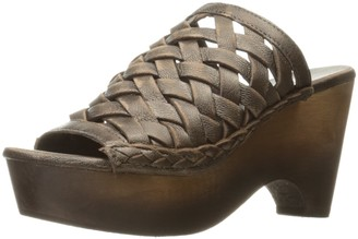Naughty Monkey Women's Fringe Benefit Wedge Sandal
