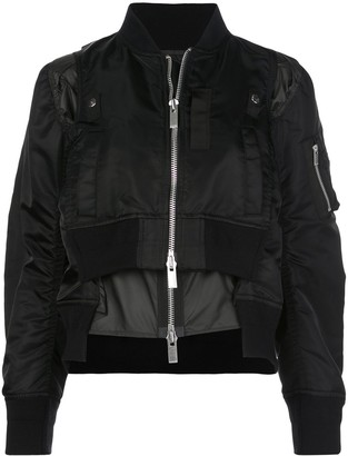 Sacai double-layered bomber jacket