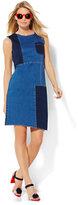 New York & Co. Soho Jeans - Patchwork Shift Dress - Blue Daze Wash
