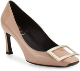 Roger Vivier Trompette Patent Leather Pumps, Nude