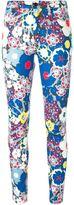 Victoria Victoria Beckham - tropical print jeans - women - Cotton/Polyester/Spandex/Elastane - 25