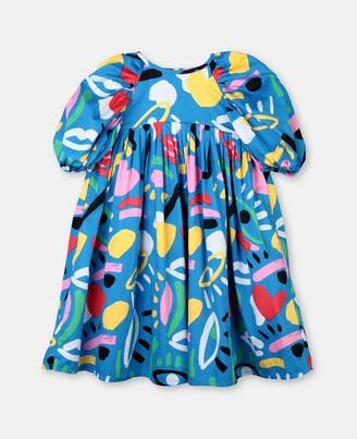 Stella Mccartney Kids Graphic Face Cotton Dress, Women's