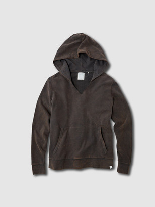 Jason Scott Split Neck Hoodie - Charcoal Multi