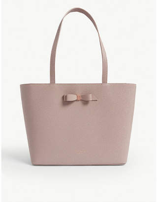 Ted Baker Jjesica bow detail pebbled leather tote