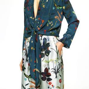 AILANTO Blue floral shirt - 38