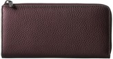Ecco SP 3 Large Zip Around Wallet (Fig Metallic) Wallet Handbags