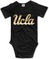 LIYUGFS Baby Boys' UCLA Bruins Gold Logo Romper Jumpsuit Bodysuit Outfits