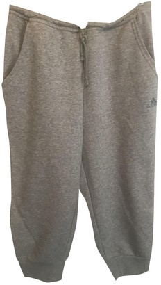 adidas Grey Cotton Trousers for Women