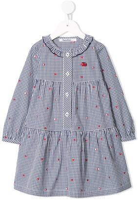 Familiar Gingham Check Shirt Dress