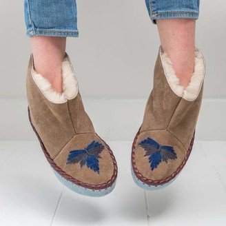 The Small Home - Mini Moccasin Boots Sand Midnight - 28