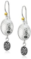 "Gurhan Jordan Pave"" Sterling Silver and Diamond Double Drop Earrings (1/5cttw, I-J Color, I2 Clarity)"