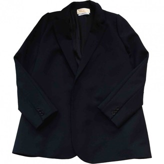 David Szeto Navy Wool Jacket for Women