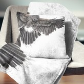 "Animal Low Flying Eagle Illustration Pillow East Urban Home Size: 16"" x 16"", Product Type: Throw Pillow"