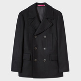 Paul Smith Men's Black Wool And Cashmere-Blend Peacoat