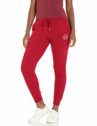 True Religion Women's Tall Size Circle High Rise Slim fit Jogger Sweatpant