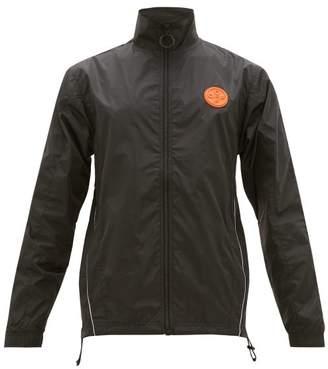 Off-White Off White Logo Stripe Technical Jacket - Mens - Black