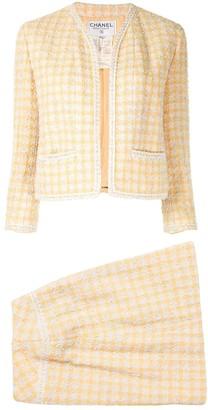 Chanel Pre Owned 1994's Tweed setup jacket skirt