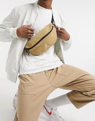 Gramicci boa fleece cross-body bag in beige