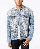 GUESS Men's Graffiti Denim Jacket