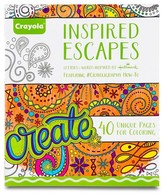 Crayola ; Adult Coloring Book - Inspired Escapes