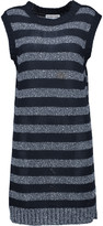 See by Chloe Striped knitted cotton mini dress