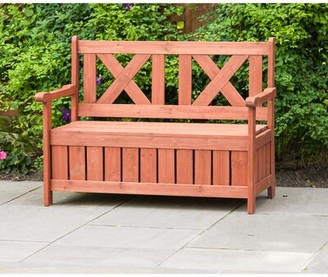 Solid Wood Storage Bench Leisure Season