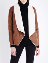 The Kooples Waterfall-style faux-shearling jacket