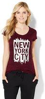 "New York & Co. Lounge - Sparkling ""New York City"" Logo Tee"