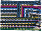 Missoni zigzag knitted scarf - women - Cashmere - One Size